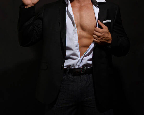 Male Stripper - Businessman , Danseur nu - Homme d'affaire