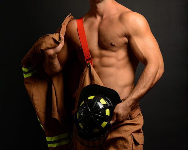 Male Stripper - Fireman, Danseur nu - Pompier