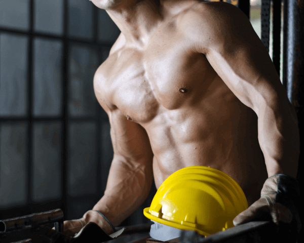 Male Stripper - Construction Guy, Danseur nu - Constructeur