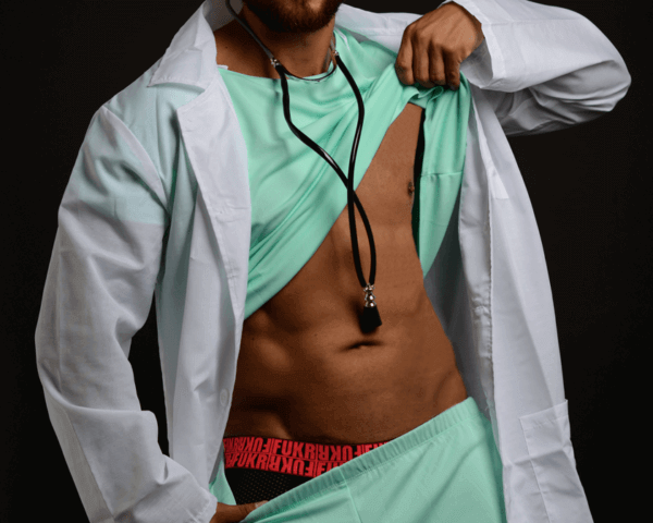 Male Stripper - Doctor, Danseur nu - Docteur