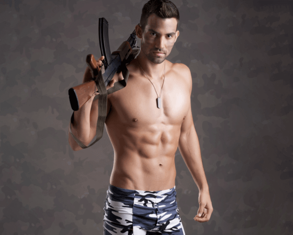 Male Stripper - Military, Danseur nu - Militaire