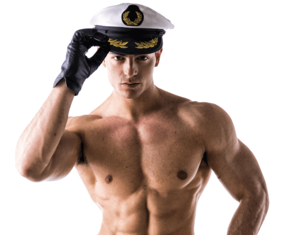 Male Stripper - Navy Captain, Danseur nu - Capitaine de bateau